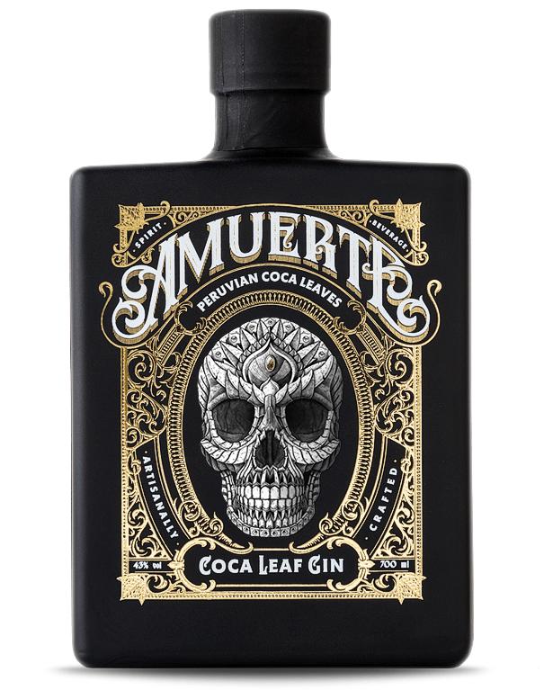 Amuerte cocoa leaf gin black edition
