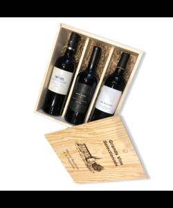 Houten kist Franse wijn