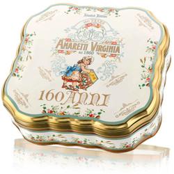 Amaretti Soffici 160 Anni - metallo quadrato smerlato 300 gram