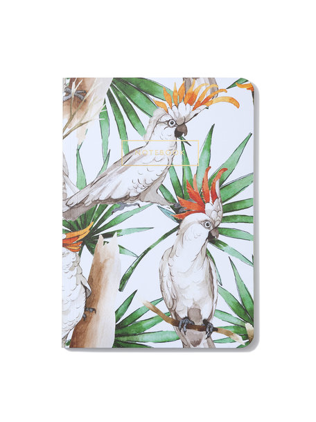 Creative Lab Amsterdam White Parrot Notebook per 6