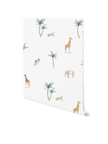 Creative Lab Amsterdam Savannah Palmtree Wallpaper on roll