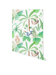 Creative Lab Amsterdam Jungle Monkey Wallpaper on roll