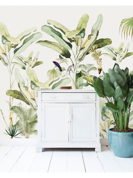 Creative Lab Amsterdam Baby Bananas Wallpaper setting