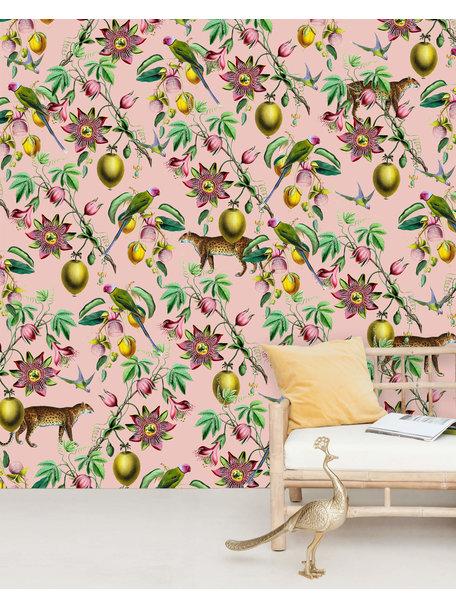 Botanical Garden Pink Wallpaper