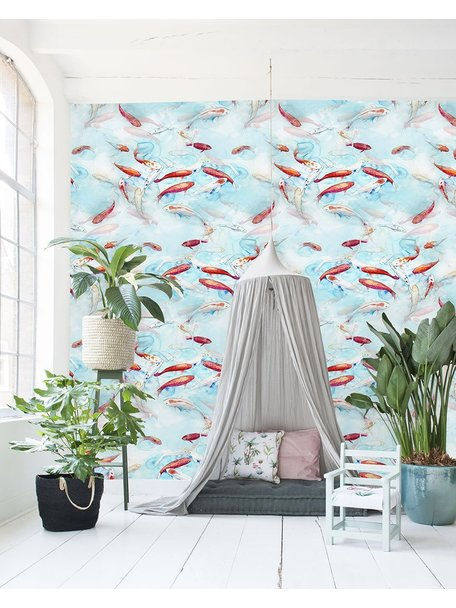 Creative Lab Amsterdam Fishes Wallpaper