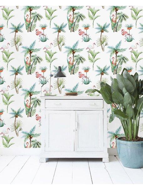 Flamingo Palm Wallpaper