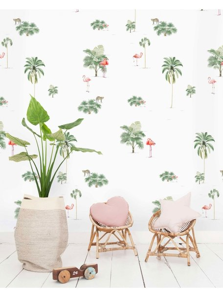 Creative Lab Amsterdam Flamingo & Tiger Wallpaper