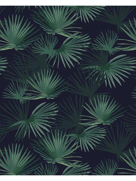 Creative Lab Amsterdam Palm Leaves Dark Green Wallpaper