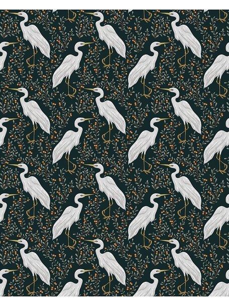 Creative Lab Amsterdam White Heron Wallpaper