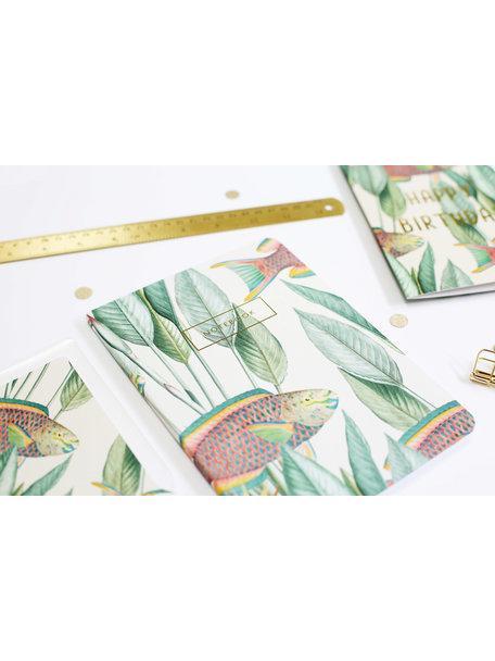 Creative Lab Amsterdam Parrot Fish Notebook per 6