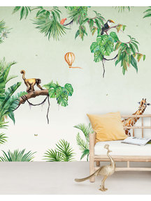 Creative Lab Amsterdam Monkey Jungle Wallpaper setting