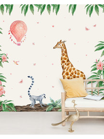 Creative Lab Amsterdam Giraffe Wallpaper setting