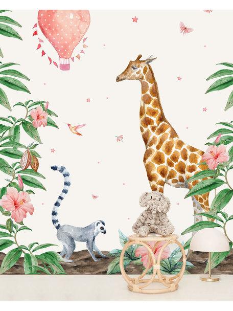 Creative Lab Amsterdam Giraffe Wallpaper setting