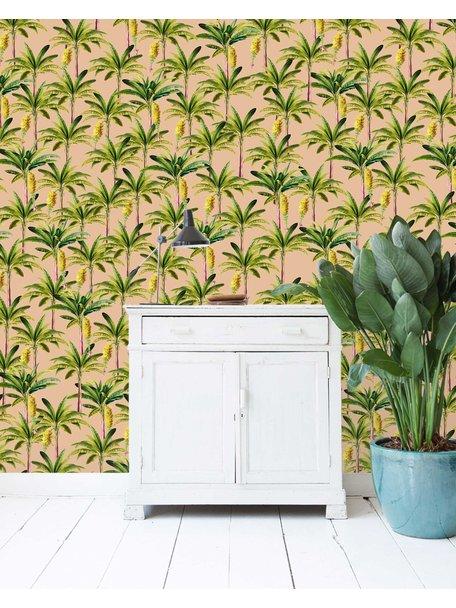 Creative Lab Amsterdam Golden Bananas Wallpaper Pink