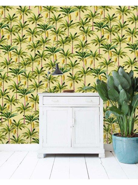 Golden Bananas Yellow Wallpaper