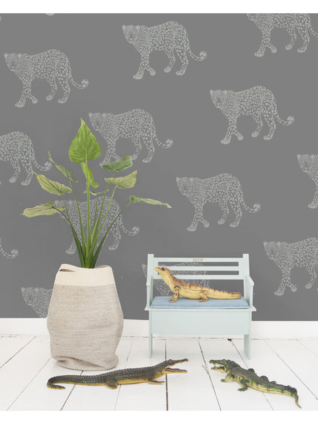 Creative Lab Amsterdam Panther Wallpaper Grey