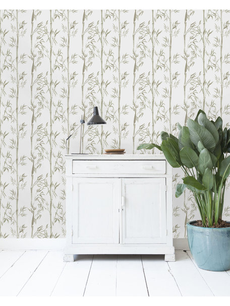 Bamboo Grey Wallpaper