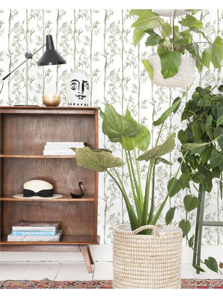 Creative Lab Amsterdam Bamboo Wallpaper Grey