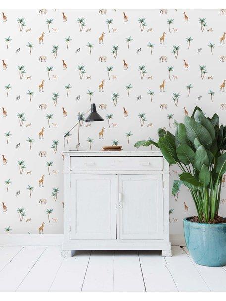Creative Lab Amsterdam Savannah Palmtree Wallpaper