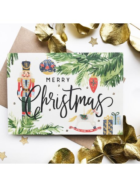 Creative Lab Amsterdam Nutcracker Christmas Card Green