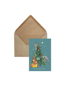 Creative Lab Amsterdam Under the Tree Christmas Card Giraffe per 6