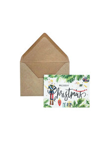 Creative Lab Amsterdam Mouse Christmas Card per 6