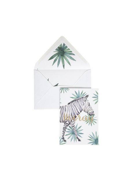 Creative Lab Amsterdam Zebra Hooray Greeting Card - Hooray - per 6