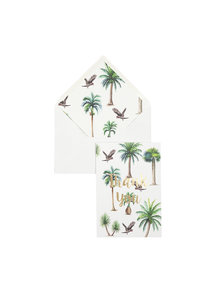 Creative Lab Amsterdam A Bunch of Palms Greeting Card - Thank you - per 6