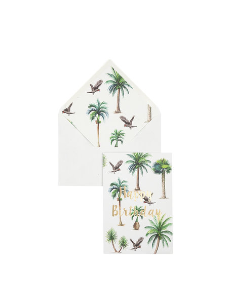 Creative Lab Amsterdam A Bunch of Palms Greeting Card - Happy Birthday - per 6