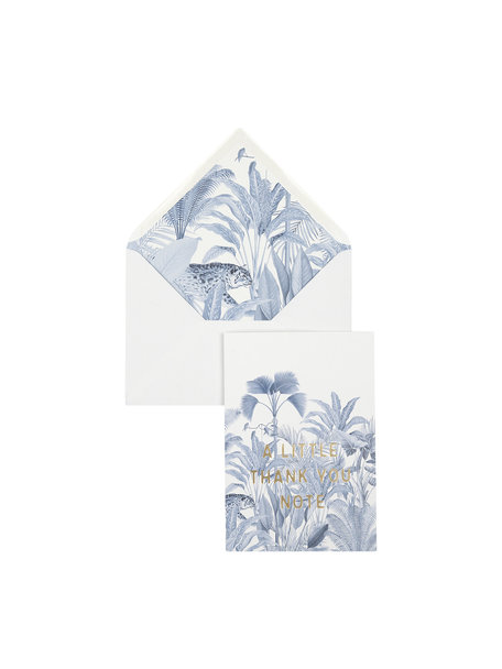 Blue Jungle Greeting Card - Thank You - per 6