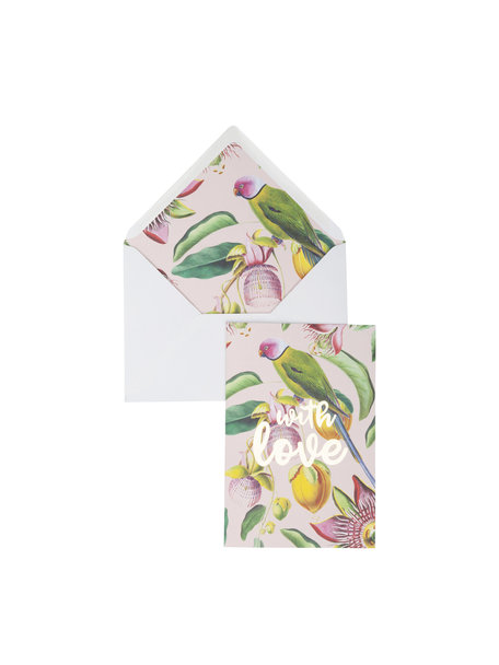 Botanic Garden Greeting Card - With Love - per 6