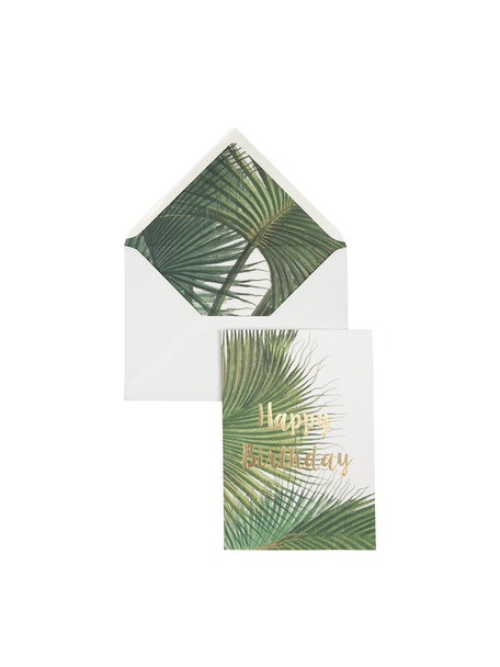 Botanic Palm Greeting Card - Happy Birthday - per 6