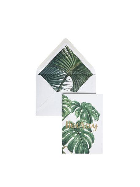 Botanic Palm Greeting Card - Hooray - per 6