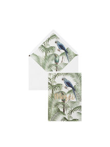 Chat in the Jungle Greeting Card - Merci - per 6