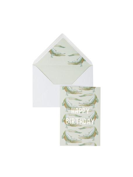 Crocodile Dundee Greeting Card - Happy Birthday - per 6