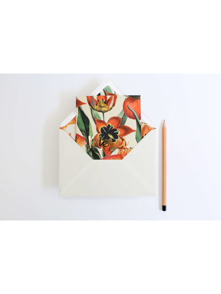Dutch Parade Greeting Card - Merci - per 6