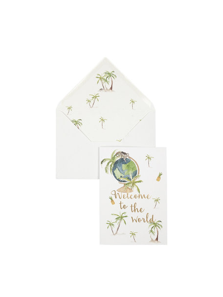Earth/Home Greeting Card - Baby - per 6