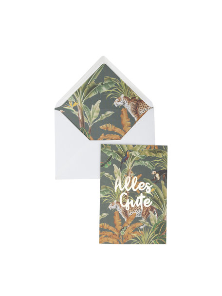 Mighty Jungle Greeting Card - Alles Gute - per 6
