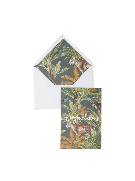 Mighty Jungle Greeting Card - Congratulations - per 6