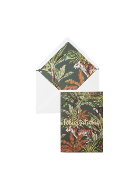 Mighty Jungle Greeting Card - Felicitations - per 6