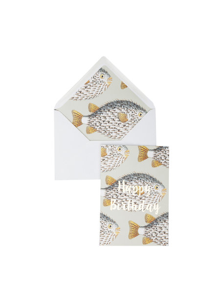 My Big Fat Fish Greeting Card - Happy Birthday - per 6