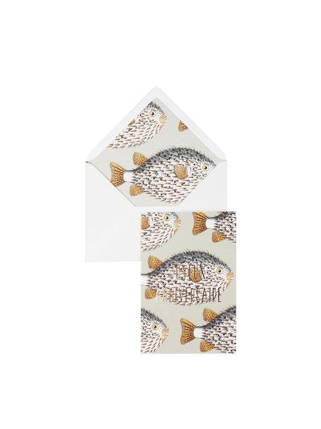 My Big Fat Fish Greeting Card - Joyeux Anniversaire - per 6