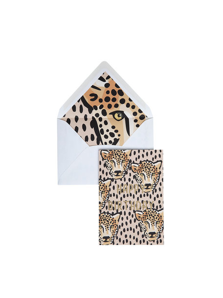Panther Dots Greeting Card - Happy Birthday - per 6