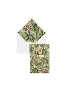 Panther Leaves Greeting Card - Happy Birthday - per 6