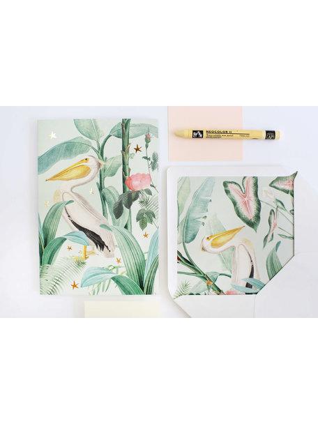 Pelican Greeting Card - Viel Glück - per 6