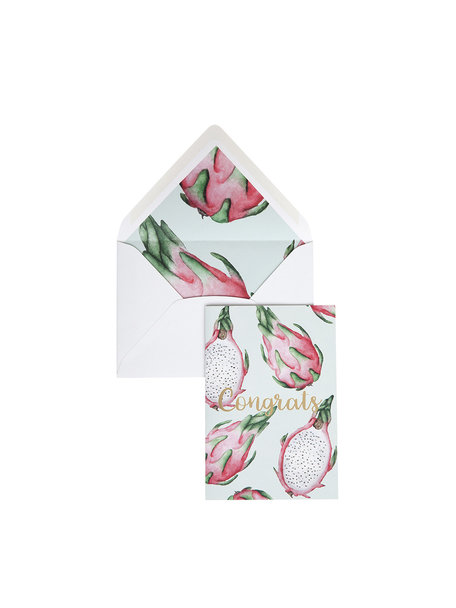 Pitaya Greeting Card - Congrats - per 6