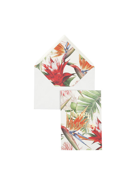 Power Flower Greeting Card - Happy Birthday - per 6