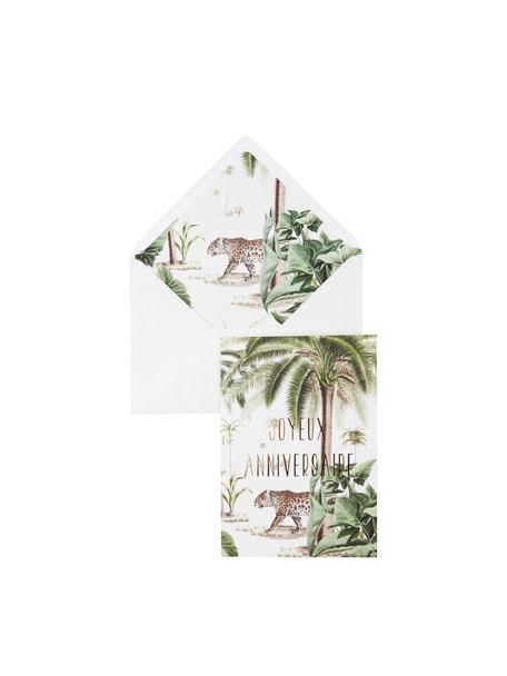 Walk In The Park Greeting Card - Joyeux Anniversaire - per 6