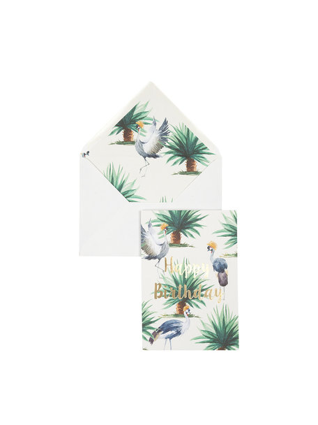Wild Palms Greeting Card - Happy Birthday - per 6