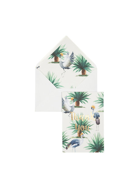 Wild Palms Greeting Card - Thank You - per 6